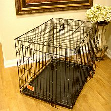 Double Door Folding Dog Crate Cage 42 inchLarge 42in