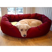 Majestic Pet Products Bagel Bed Small, 24 inch Burgundy