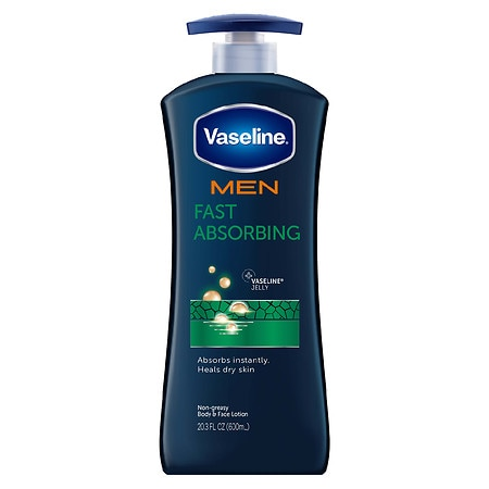 Vaseline Men Healing Moisture Non-Greasy Body & Face Lotion Fast Absorbing
