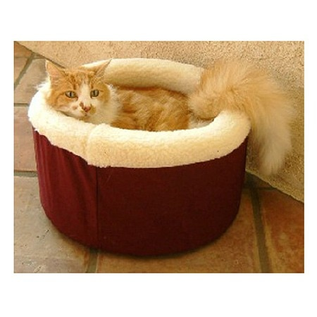 Majestic Pet Products Cat Cuddler Pet Bed 20 inch Burgundy