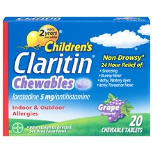 Claritin Children's Non-Drowsy 24 Hour Allergy Grape