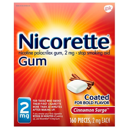 Nicorette Stop Smoking Aid Gum 2mg Cinnamon Surge Health Fitness Skin Care Beauty Supply Deals