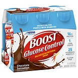 Boost Glucose Control Glucose Control Nutritional Drink 6 Pack Rich Chocolate