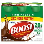 Boost High Protein High Protein Nutritional Energy Drink 6 Pack Rich Chocolate