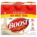 Boost Vanilla Nutritional Energy Drink 6 Pack Very Vanilla
