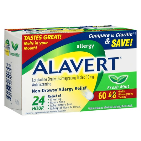 Alavert 24 Hour Allergy Relief Orally Disintegrating Tablets Fresh Mint
