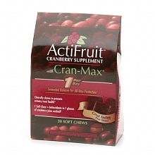 Enzymatic Therapy ActiFruit Cranberry Supplement with Cran-Max, Soft Chews