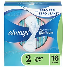Always Infinity Pads with Flexi-Wings Unscented,Heavy
