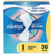 Always Infinity Pads with Flexi-Wings, 36 ea Regular