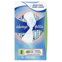 Always Infinity Pads with Flexi-Wings Unscented,Heavy, 32 ea