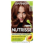 Garnier Nutrisse Nourishing Color Creme Permanent Haircolor Med Golden Mahogany Brown 535 (Choc Caramel)