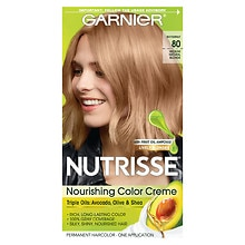 Garnier Nutrisse Nourishing Color Creme Permanent Haircolor Medium Natural Blonde 80 (Butternut)