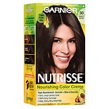 Garnier Nutrisse Nourishing Color Creme Permanent Haircolor Darkest Brown 30 (Sweet Cola)