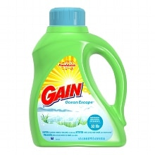 Gain Liquid Detergent with Fresh Lock, 32 Loads Ocean Escape