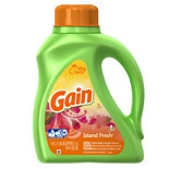 Liquid Detergent, 2x Concentrated, 32 Loads Island Fresh