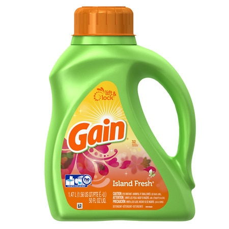 Gain Liquid Detergent, 2x Concentrated, 32 Loads Island Fresh