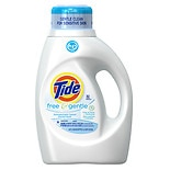 Tide Liquid Detergent, Free & Gentle,  High Efficiency, 32 Loads Fragrance free