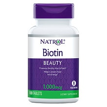 Natrol Biotin 1000 mcg Dietary Supplement Tablets