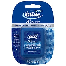 Oral-B Glide Whitening Plus Scope Mint Splash Floss Radiant Mint