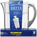 Brita Grand Water Filter Pitcher 10 Cups White