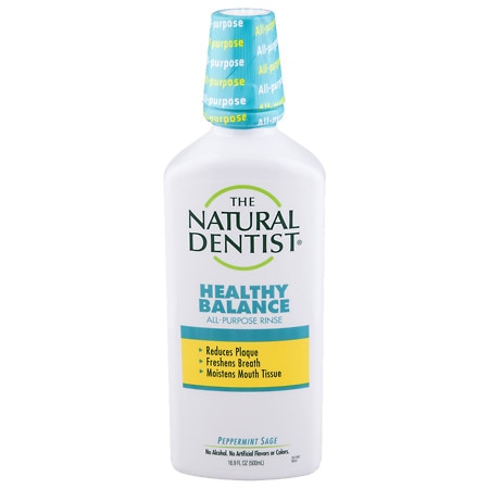 The Natural Dentist Healthy Balance All Purpose Mouth Rinse Peppermint Sage