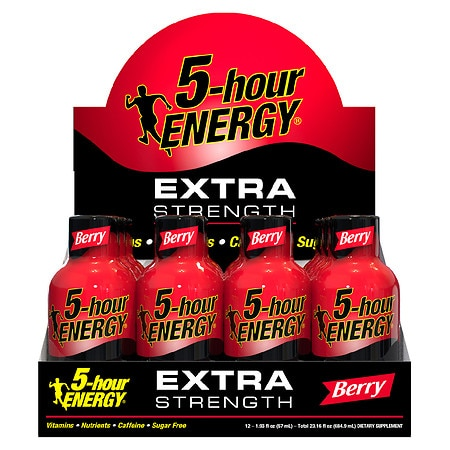 5-Hour Energy Extra Strength Energy Shot Berry