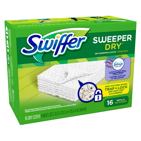 Swiffer Sweeper Dry Sweeping Cloths with Febreze Lavender Vanilla & Comfort