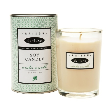 de-luxe MAISON 100% Pure Soy Candle Winter Wreath