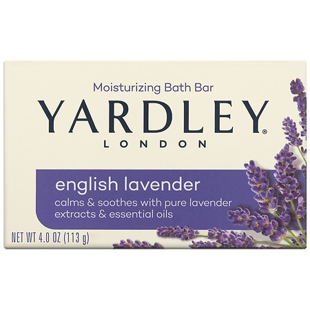 Yardley of London English Lavender Naturally Moisturizing Bar with Essential Oils