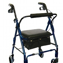 Drive Medical Mimi Lite Rollator Walker Flame Blue