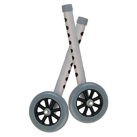 Drive Medical Extended Height Walker Wheels and Legs Combo Pack 5 Inch Wheels