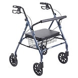 Heavy Duty Bariatric Rollator Walker with Large Padded SeatBlue