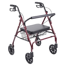 Go-Lite Bariatric Steel Rollator, Red