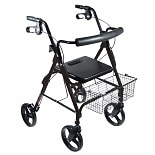 Drive Medical D-Lite Aluminum Rollator Black