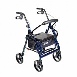 Duet Transport Wheelchair Chair Rollator WalkerBlue