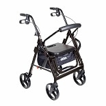 Drive Medical Duet - Rollator & Transport Chair Combo, Black Black