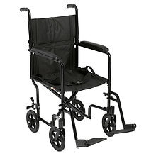 Drive Medical Lightweight Transport Wheelchair Black