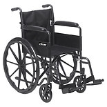 Drive Medical Silver Sport 1 Wheelchair 18 inch