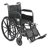 Drive Medical Wheelchair 18-inch Silver Sport 2  with Fixed Arms and Swing-Away Elevating Legr18 inch