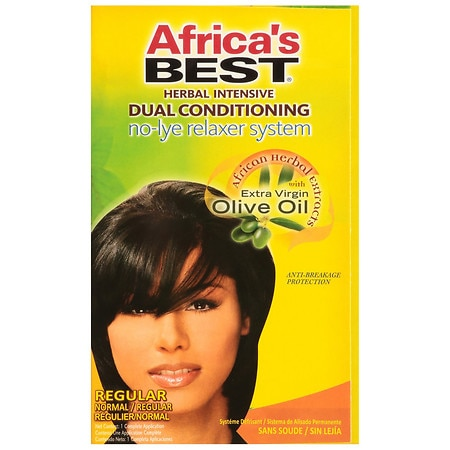 Africa's Best Organics Herbal Intensive Dual Conditioning No-Lye Relaxer System Regular
