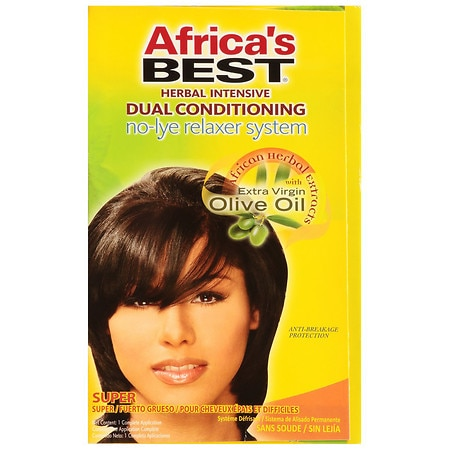 Africa's Best Herbal Intensive Dual Conditioning No-Lye Relaxer System Super