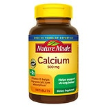 Nature Made Calcium 500 mg With Vitamin D Tablets