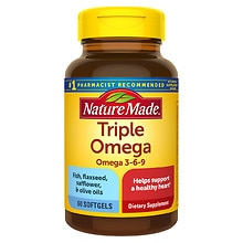 Nature Made Triple Omega Dietary Supplement Liquid Softgels
