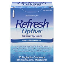 Optive Sensitive Preservative-Free Lubricant Eye Drops