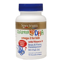 Spectrum Essentials Children's DHA, Chewable, Strawberry Banana
