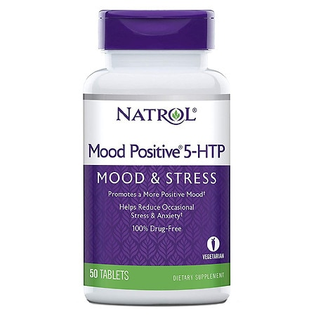 Natrol Mood Positive 5-HTP Dietary Supplement Tablets