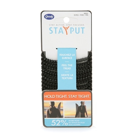 Goody StayPut Elastics, Black