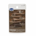 Goody Colour Collection Snap Clips Brunette
