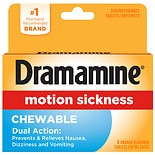 Dramamine Motion Sickness Relief Chewable Tablets Orange Flavored