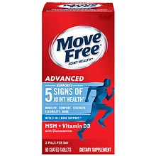 Move Free Advanced plus MSM & Vitamin D3 Dietary Supplement Tablets